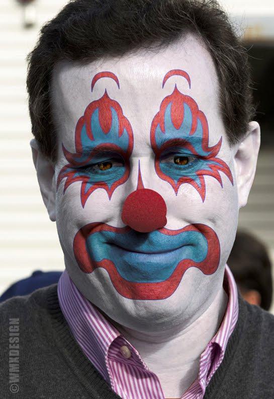 rick santorum clown