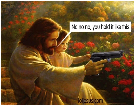 Jesus-Holding-A-Gun-Christians-and-Guns