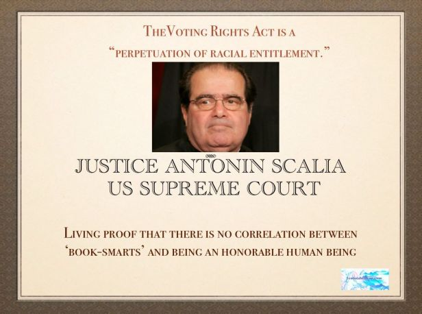 Antonin Scalia on the Voting Rights Act