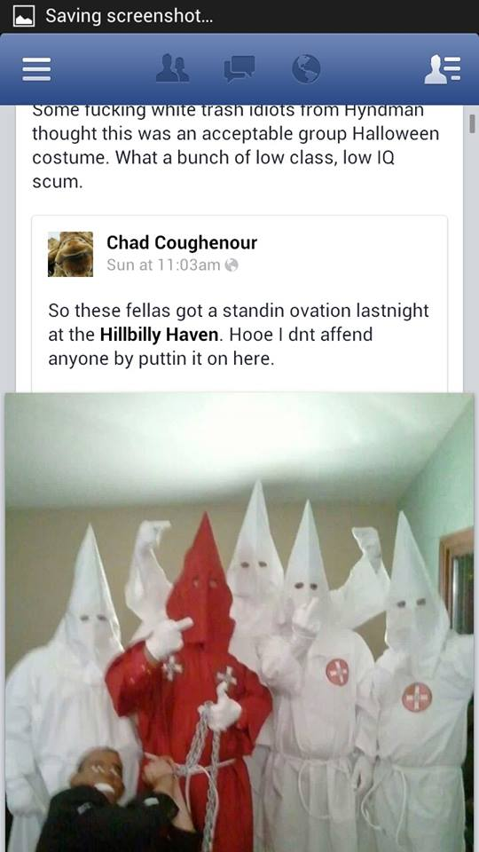 Here's a Fun Idea:  Let's Dress Up As Klansman & Lynch President Obama for Halloween!