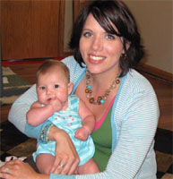 Melissa Ohden and her 19 month old daughter Olivia.