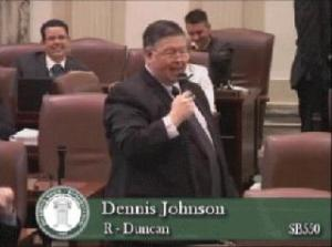"Oklahoma State Representative Dennis Johnson used the phrase ""Jew me down on a price"" during a floor debate about the challenges facing small businesses.   After being handed a note that suggested the term was offensive to Jewish people, Johnson added insult to injury by saying: ""I apologize to the Jews.  They're good businessmen."""