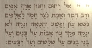 Thirteen Attributes hebrew lit
