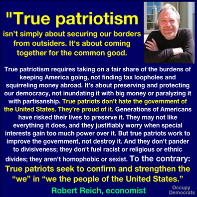 Robert Reich true patriots