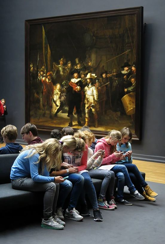 What People Do at A Museum in 2014