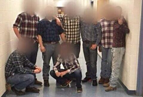 "In an expression of support for ""Anti-Gay Day"" at McGuffy High School, some students wore flannel."