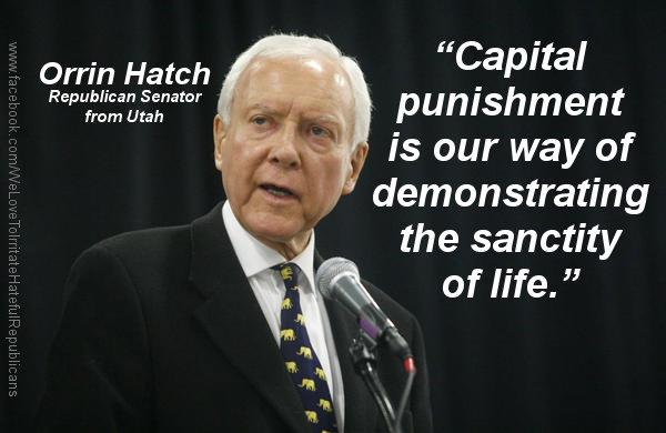 Hatch on Capital Punishment