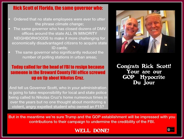 Rick Scott hypocrite