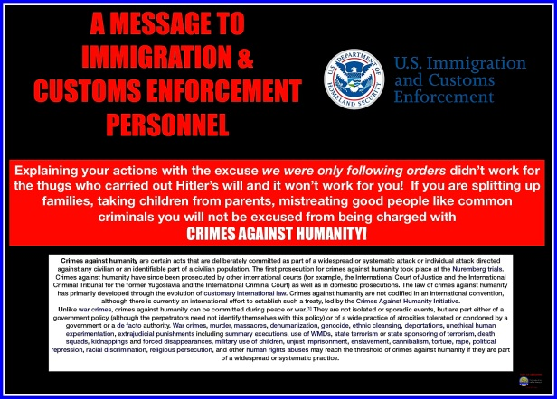 A message for ICE personnel