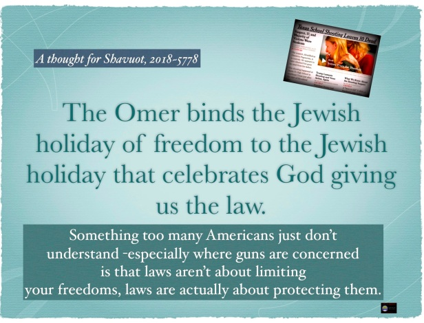 The omer and freedom